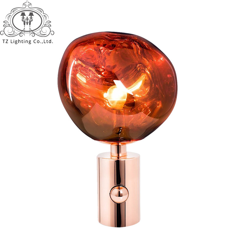 TZ Post-modern Creative Tom Dixon Melt Table Lamp PVC Lava Irregular Desk Lights for Living Room Bedside Lamp Home Lighting modern led glass lights melt lava pendant light living room bedroom restaurant home lighting study bedside bar lava lamps