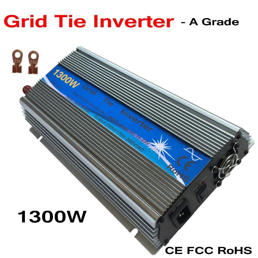 цена на Free shipping 1300W Micro grid tie Solar Inverter,Pure Sine Wave,MPPT function for 18V(10.5~30VDC), 90V-140V/170~260VAC, 50-60Hz