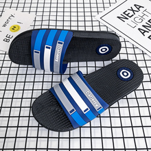 Home Shoes For Men Flat Bathroom Slippers Blue Red Seaside Sandals Slippers Summer Outdoor Walking Slides Fashion Casual Shoes цены онлайн