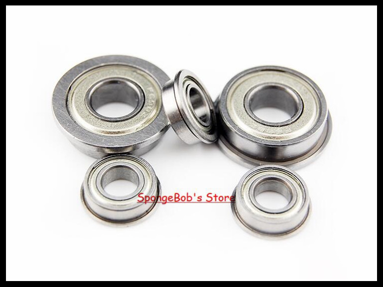 30pcs/Lot F628ZZ  F628 ZZ 8x24x8mm Flange Bearing Deep Groove Ball Radial Ball Bearing 5pcs 628 2z zz bearings deep groove ball bearing 8 x 24 x 8mm