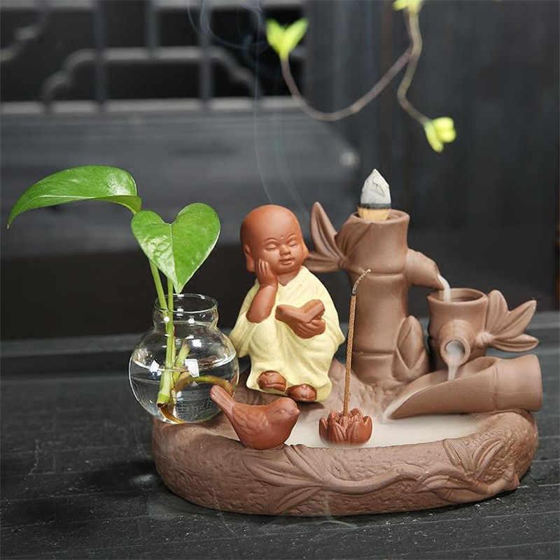 Керамическая бамбуковая Форма Водопад монах курильница для благовоний горелка Многофункциональная подставка для ароматических палочек домашний декор кадильница для ароматерапии