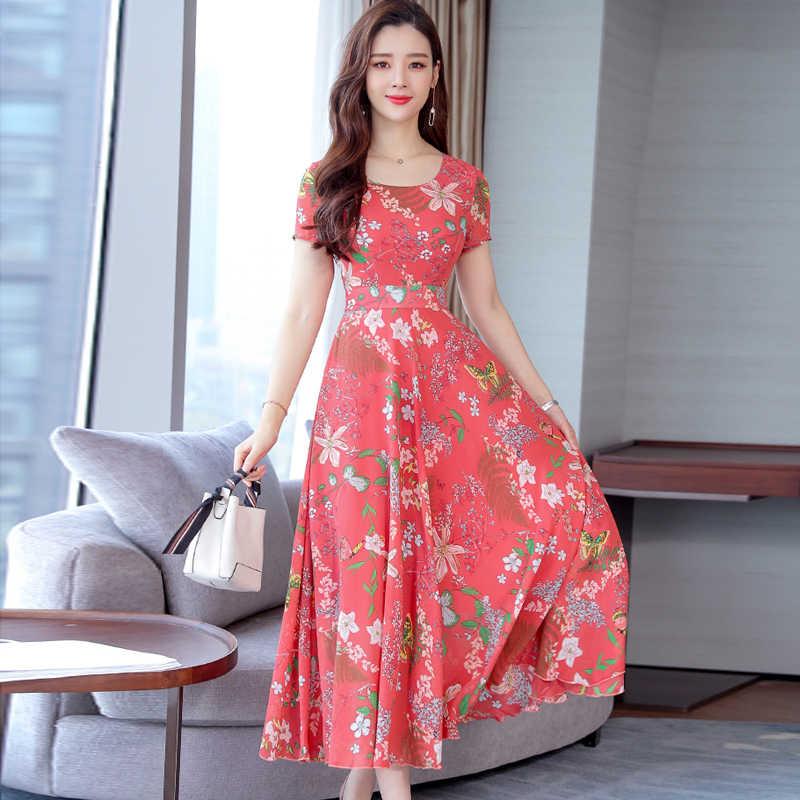 Çiçek Baskı Kadın Moda Elbise Yaz Kısa Kollu Boho Plaj Elbise Çiçek Casual Sundress