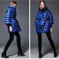 AZZIMIA Moda roupas soltas 2015 Outono das mulheres com capuz para baixo jaqueta de boa qualidade Top vender soft & confortável