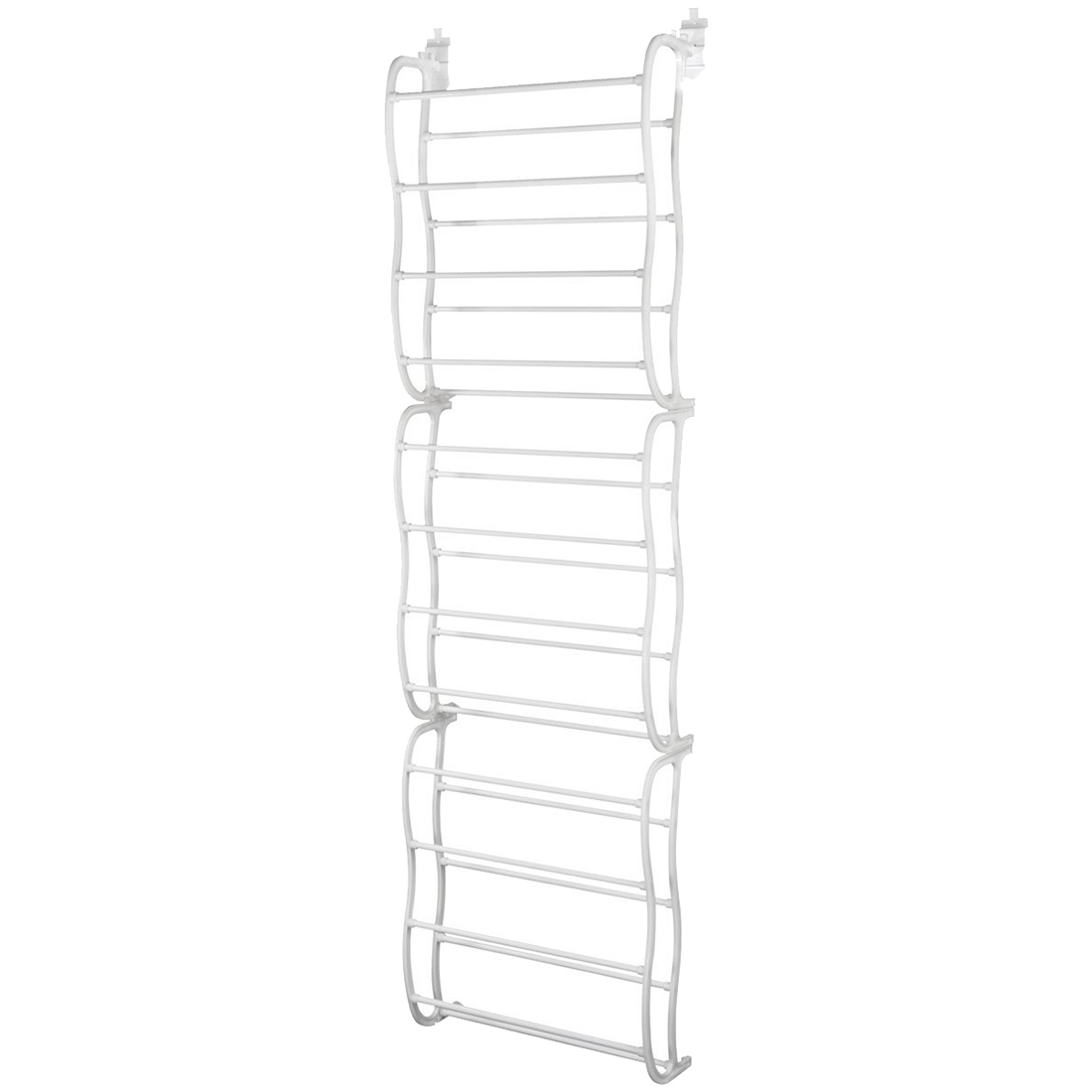 New 36 Pair 12 Layers Over the Door Shoe Rack,Washable Polyester Shoe Rack, Hanging Shoe Storage Bag