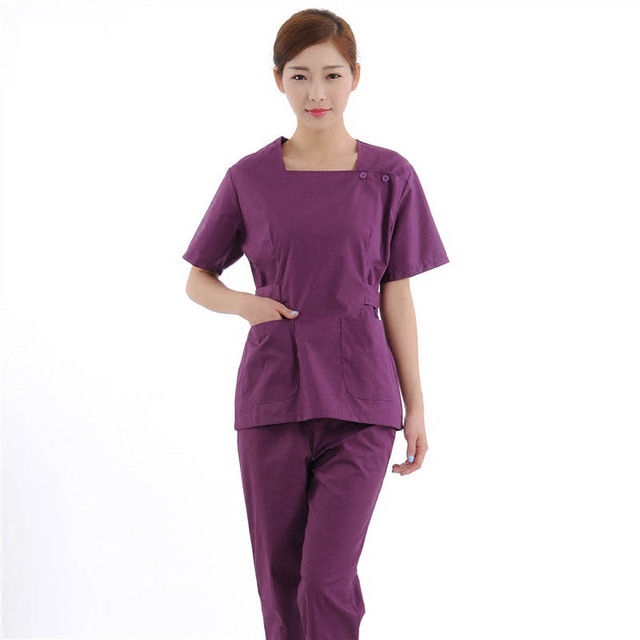 70055dc42 قصيرة الأكمام مستشفى النساء الملابس الطبية ممرضة التمريض فرك مجموعات  الحيوانات الأليفة للبيع بجودة عالية كما