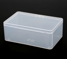 Transparent plastic box  PP-5 Storage Collections Product packaging box dressing case mini Case out size 10.5*6.5*4cm