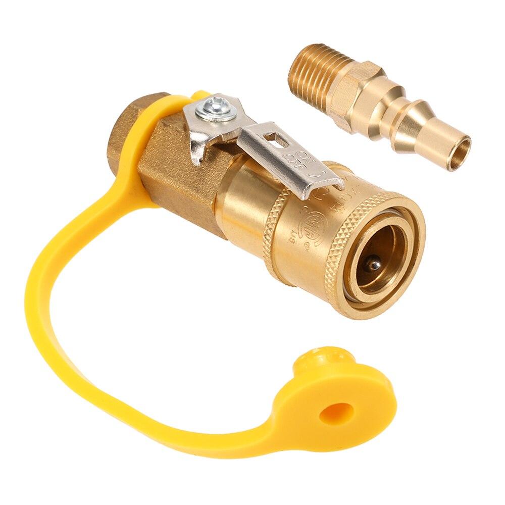 /Lixada sólido cobre NPT de Gas Natural, conexión rápida accesorios de propano manguera de desconexión rápida Kit de estufa de Gas accesorios