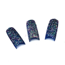 2016 KADS New Arrival 20pcs/pack Popular Big Glitter Sparkle Slice Colors Design Acrylic TIP French False Nail Tips for Nail Art
