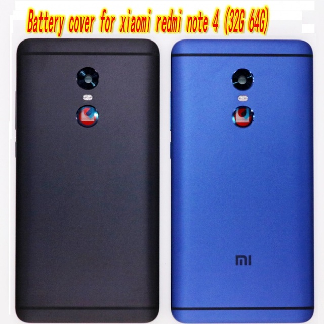 reputable site 78cac 9d638 US $9.99 |Original Back Cover Battery Door Housing for xiaomi redmi note 4  battery cover 5 color in stock high quality free shipping -in Mobile Phone  ...