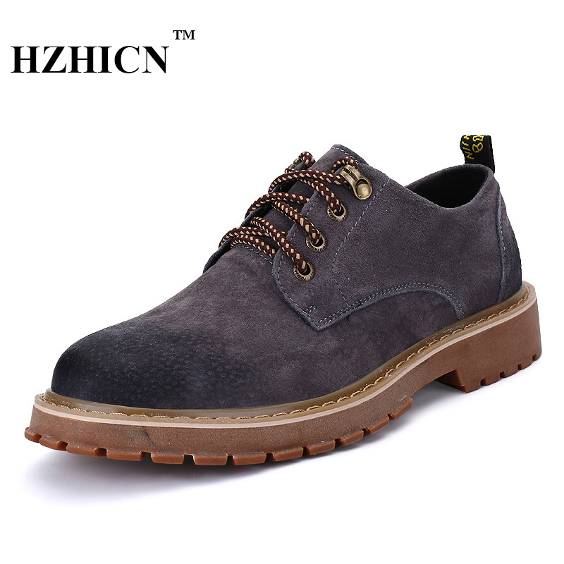 Men's  Genuine Leather Shoes Retro&Casual Style  Oxford Casual Flats Shoes Wedding&Casual Fashion  Height Increasing Shoes