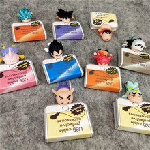 Cable Bite Anime dibujos animados protección para IPhone figura Cable Bite Animal Dragon Ball accesorio Cable teléfono soporte iPad datos línea(China)