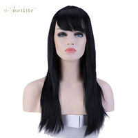 Snoilite 23inch Synthetic Full Wig Long Straight Hair Wigs For Women Daily Costume Dress 11 Colors