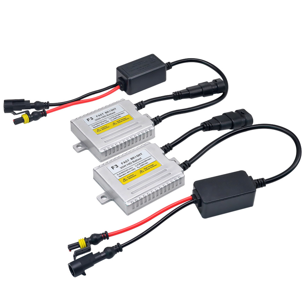 2Pcs Xenon Ballast 35W Fast Bright F3 Conversion Ballast Block For Bulb H1 H3 H4 H7 H11 9005 9006 Xenon HID Ballast Quick Start