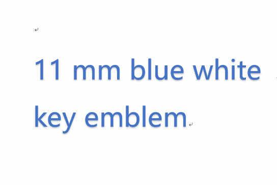 50X11 мм синий белый удаленный ключевой эмблема, логотип, наклейка для E46 E39 E38 E90 E60 E36 F30 F30 E34 F10 f20 E92 E38 E91 E53