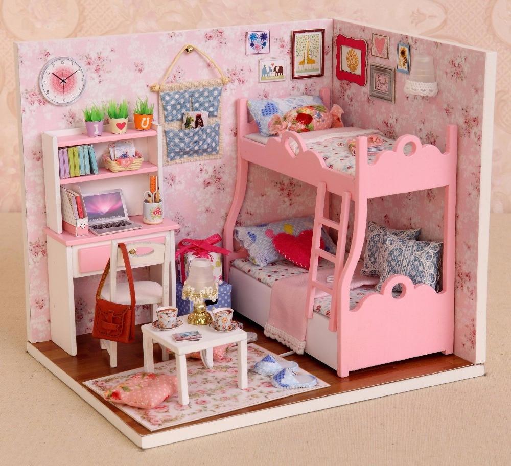Casas de Boneca miniatura de móveis casa de Material : Paper Wooden Metal Plastic Latex