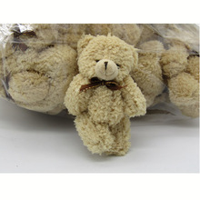 40PCS/LOT Kawaii Small Joint Teddy Bears Stuffed Plush Whit Chain 12CM Toy Teddy-Bear Mini Bear Ted Bears Plush Toys Wedding 019