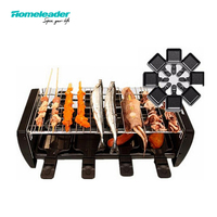 Homeleader Non sticky Family Barbecue BBQ Electric Raclette Grill Smokeless Korean Grill Parrilla Churrasqueira Eletrica Griddle