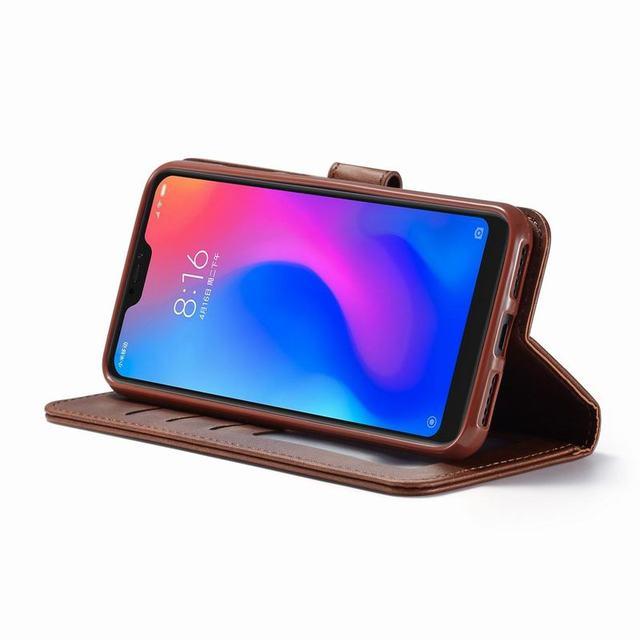 Etui na xiaomi Redmi Note 7 Pro skrzynki pokrywa luksusowy magnetyczny odwróć zwykły portfel biznesowy skórzany woreczek na telefon dla Redmi Note 7 Coque