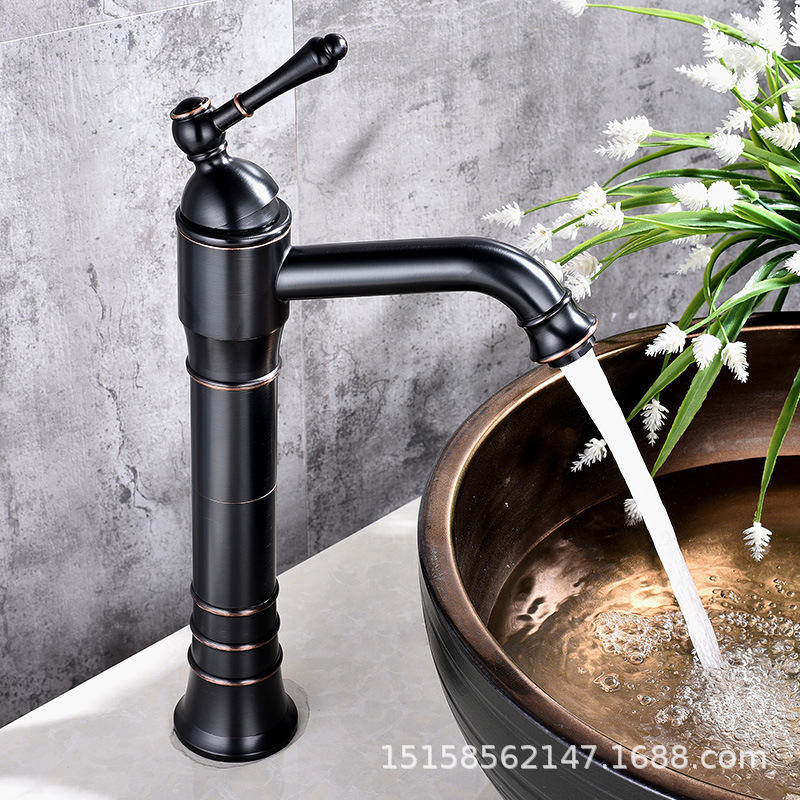 European home improvement building materials plumbing hardware black ancient basin faucet on the stage under the faucet factoryEuropean home improvement building materials plumbing hardware black ancient basin faucet on the stage under the faucet factory