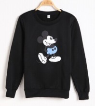 Spring Autumn Long Sleeve Casual Sweatshirts Thin Pullover Female Cartoon Mouse Print Sweatshirt Women Hoodies цена