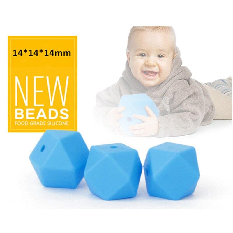 BPA vrije 14mm losse siliconen zeshoek kralen voor baby fopspeen - Baby verzorging - Foto 2