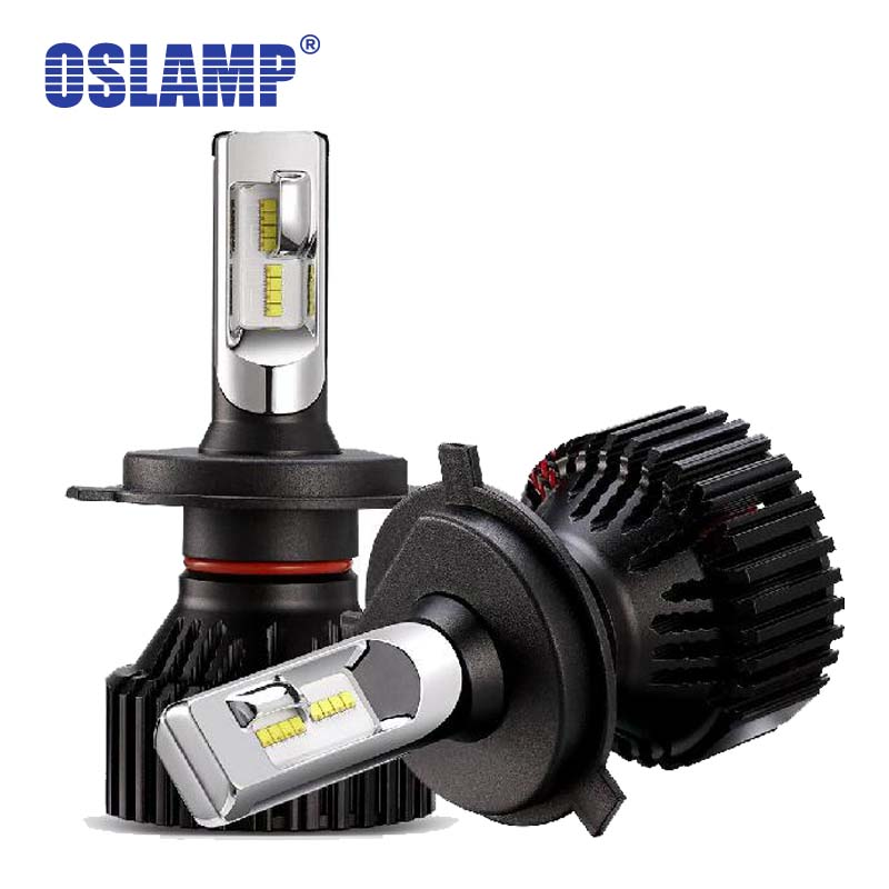 Oslamp H4 Hi lo Beam Car LED Headlight Bulbs ZES 60W 8000LM 6500K Auto Headlamp Fog Light Bulb 12v 24v h4 LED for Renault Twingo