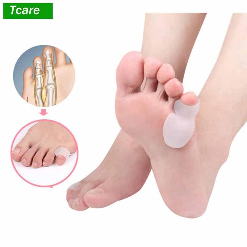 1 Paar Toe Corrector Hammer Toe Pads Gel Separator Klaue Crest Kappe Haarglätter Kappe Spacer Bunion Relief Für Männer Frauen Weich Und Leicht