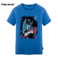 Flevans New Arrival 2017 Summer Men T Shirt 100 Cotton T Shirts Optimus Prime Anime Cartoon