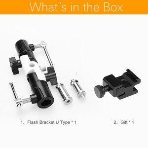 "Image 2 - Flash Shoe Swivel Umbrella Holder Light Stand 1/4"" 3/8"" Adapters Bracket U Type"
