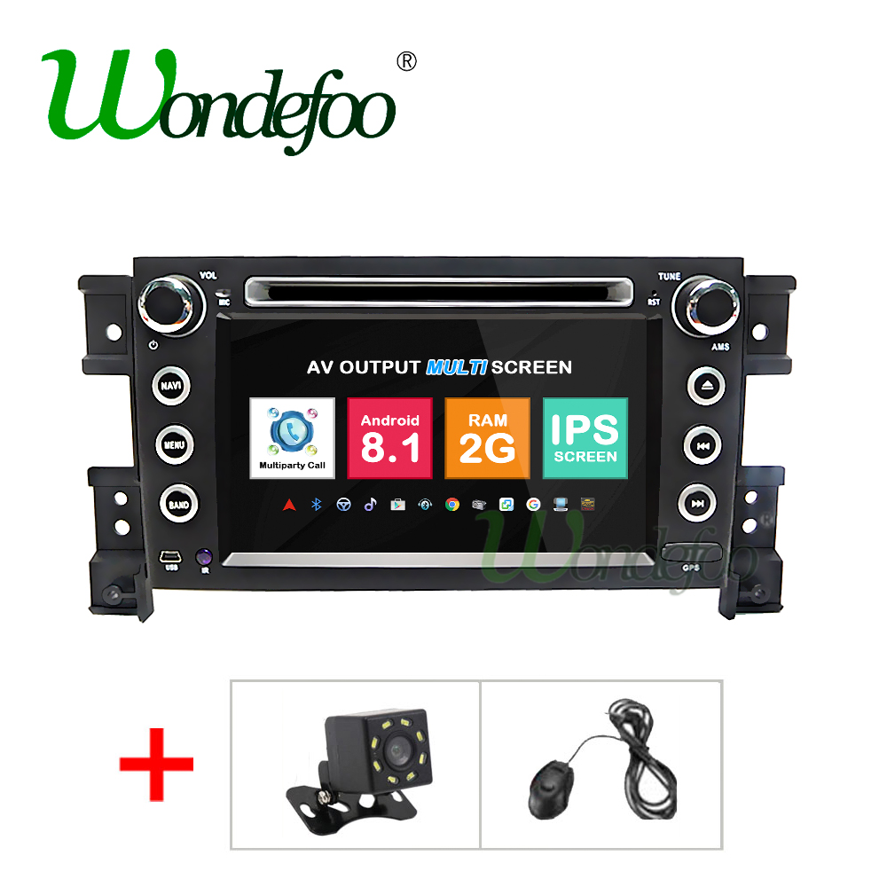 2G Android 8.1 car dvd player For suzuki grand vitara 2006 2007 2008 2009 2010 2011 multimedia radio stereo IPS SCREEN BT audio