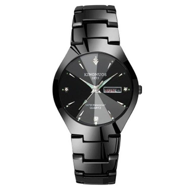 Fashion Brands Couple Watches Luxury Quartz Waterproof Wristwatches Tungsten Ste