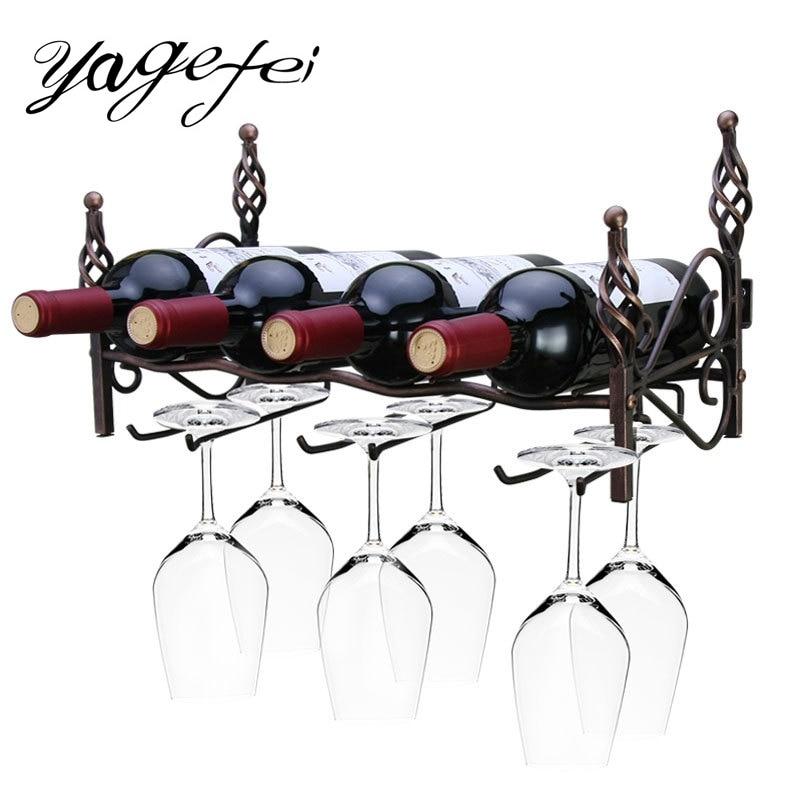 Estante del vino creativo cocina Bar decoración de pared pantalla almacenamiento estante colgante Barware suministros