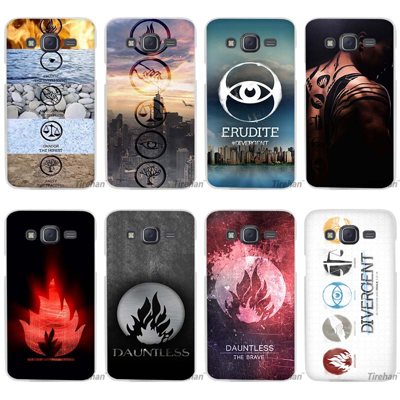 Hot Sale Divergent Factions Clear Case Cover Coque Shell for Samsung Galaxy J1 J2 J3 J5 J7 2016 2017 Emerge