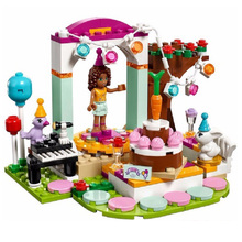 194pcs Andrea's Birthday Party BELA Building Blocks Set Friends Bricks Toys Compatible with Lepine Friends 41110 цена