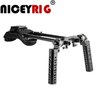 NICEYRIG Shoulder Rig Kit Cheese Hand Steady ARRI Mount for DSLR Camera Cage Photography for SONY Canon Nikon Panasonic DSLR