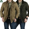 6XL/7XL/8XL plu size New autumn/winter afs jeep jackets,thickness cargo coats,brand male winter causal trenches,solid cargo coat