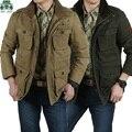 6XL/7XL/8XL tamanho plu Novo outono/inverno jaquetas afs jeep, espessura de carga, casacos de marca masculino inverno causal das trincheiras, sólida casaco de carga