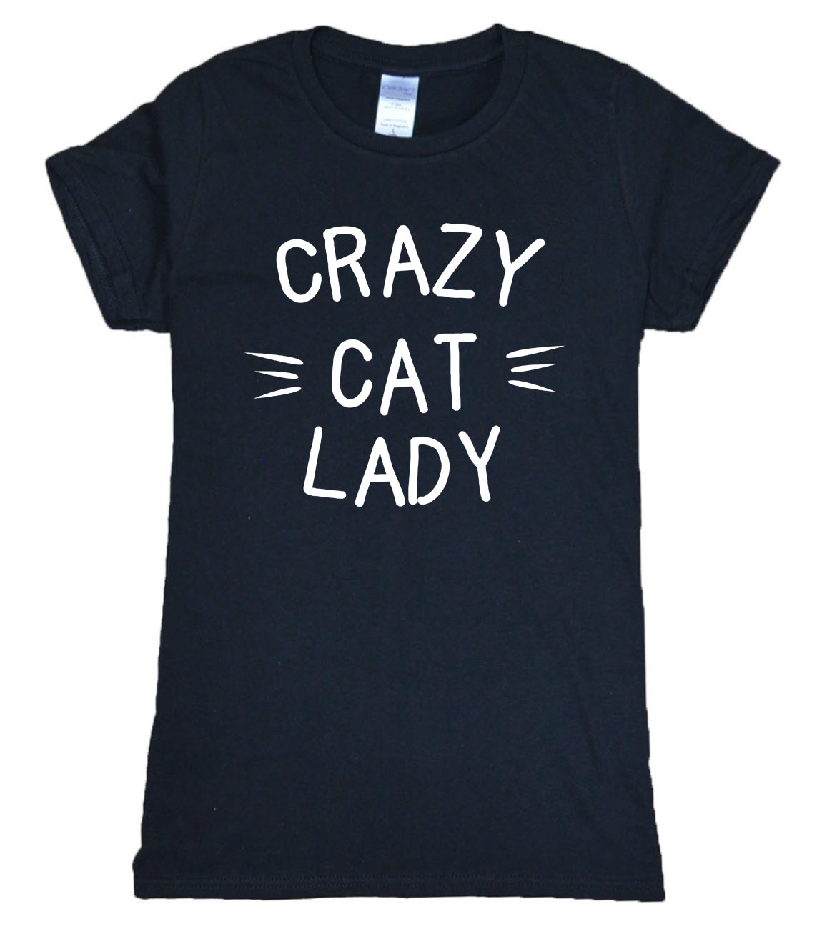 2019 summer new arrival CRAZY CAT LADY brand kawaii women t shirt hipster harajuku tops tees cotton high quality t-shirt women
