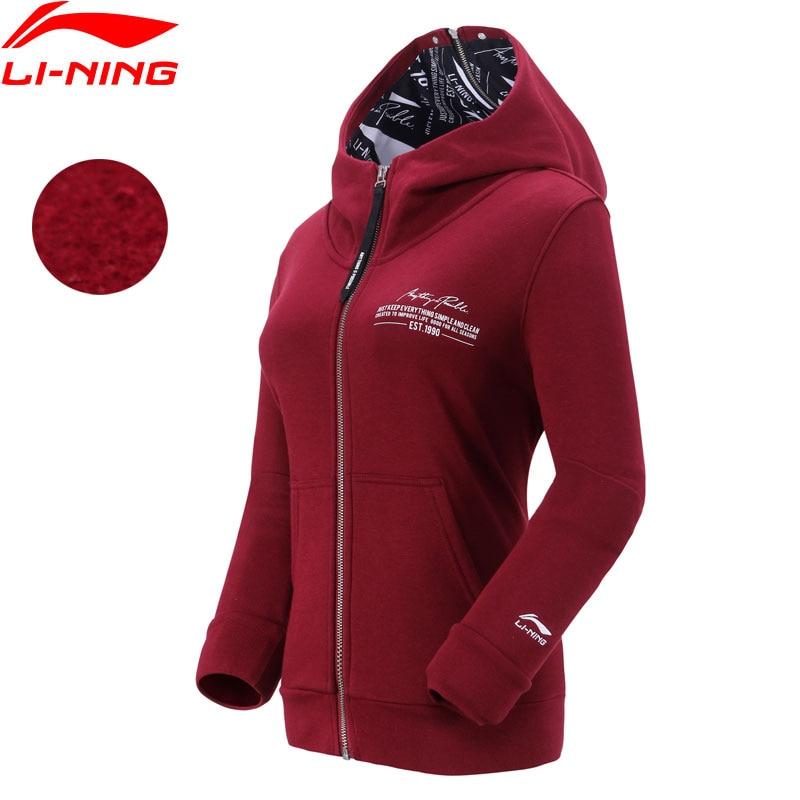 Genial Li-ning Frauen Die Trend Hoodie Zipper 62% Baumwolle 38% Polyester Regelmäßige Fit Fleece Futter Sport Mit Kapuze Jacken Awdn788 Spezieller Kauf Sport & Unterhaltung