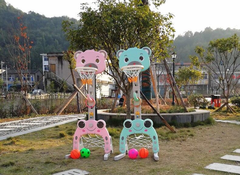 Jeu d'activité amusant en plein air intérieur Mini support de basket-ball réglable porte-panier cerceau enfant enfants garçons jouets