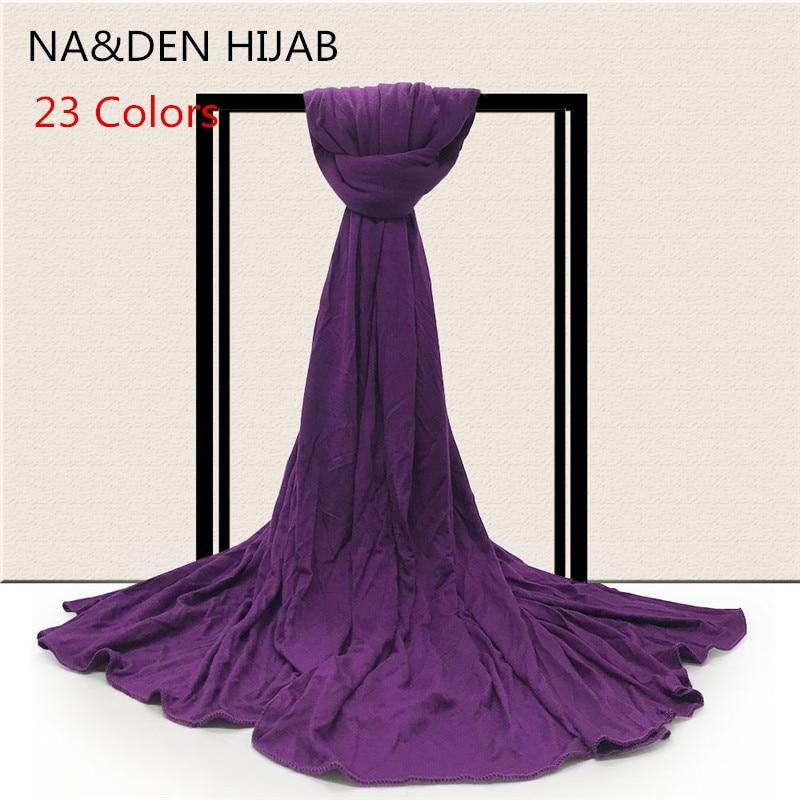 23 colors Solid New Solid scarf scarves plain maxi hijab elegant women shawls muslim headband popular