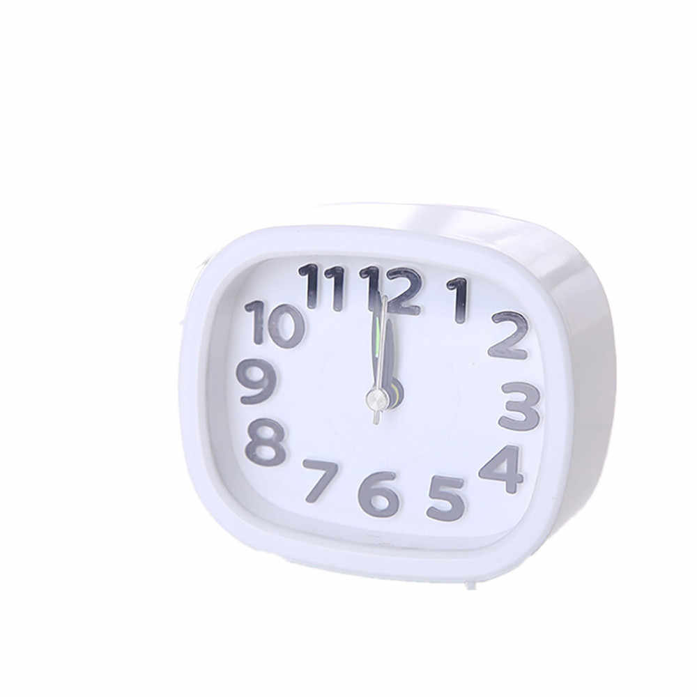 Прекрасный мини креативный Квадратный маленький будильник для кровати, компактные дорожные часы, портативные детские Студенческие настольные часы, часы для дома z0415 # G20