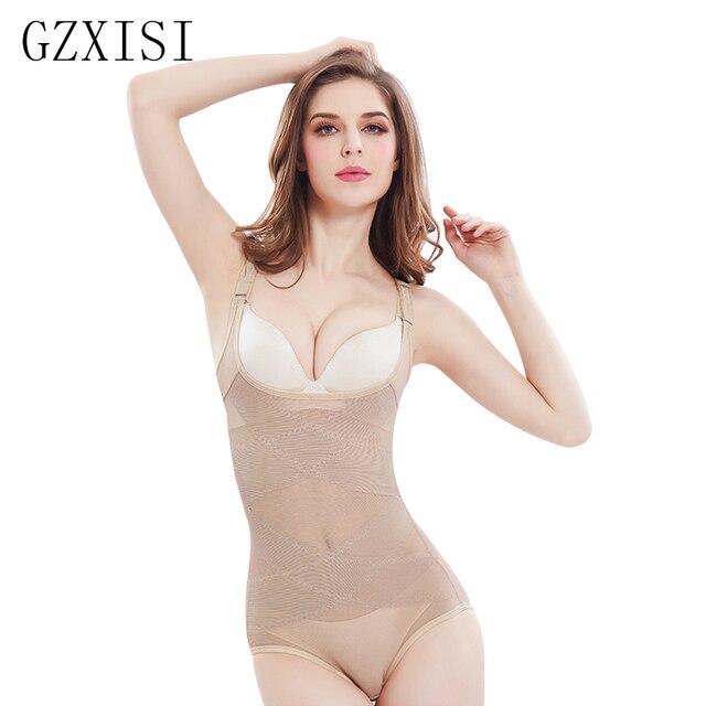 37de0e2a9f7 GZXISI Women Sexy Siamese Corset Postpartum Thin Waist Slimming Bodysuit  High Elastic Shapewear Underwear Body Shapers Corsets