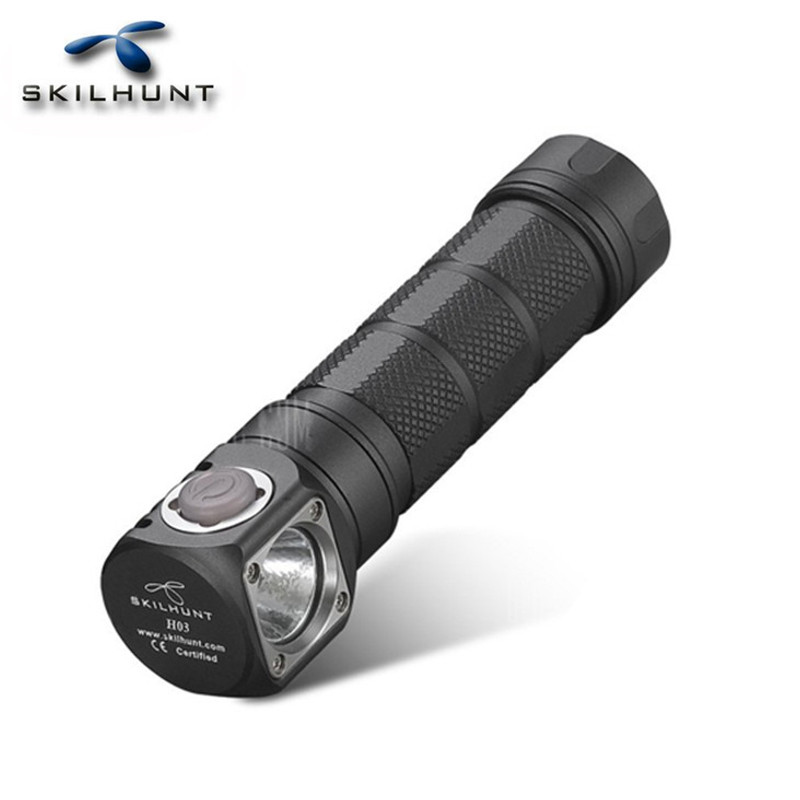 SKILHUNT H03R Waterproof XM-L2 3 Modes 1200LM Multi-level EDC LED Flashlight By 18650/CR123A /RCR123A battery Camping flat stanley goes camping level 2