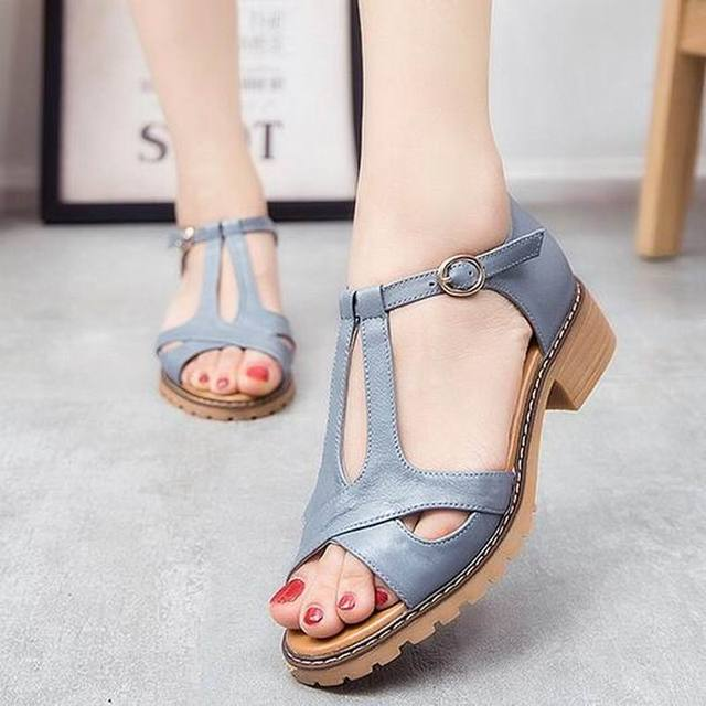 a0883e4b9 Nice Genuine Leather Summer Woman Sandals New Style Fashion Lady Shoes  Sandals Women Summer Shoes T1118