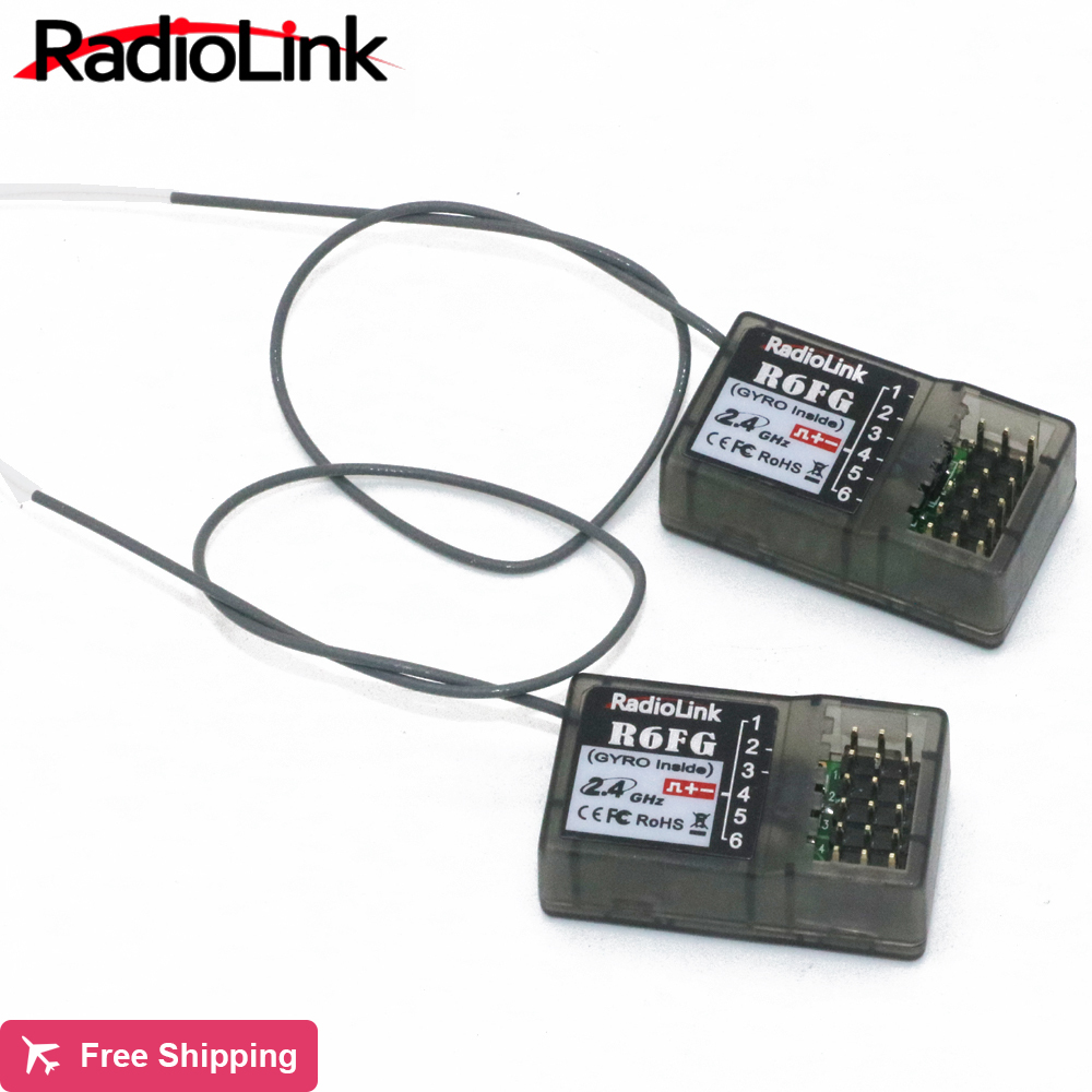 5pcs/lot Radiolink R6FG 2.4GHz 6 Channel FHSS Receiver Radio Control System Gyro Integrant For RC4GS RC3S,RC4G T8FB Transmitter niorfnio portable 0 6w fm transmitter mp3 broadcast radio transmitter for car meeting tour guide y4409b