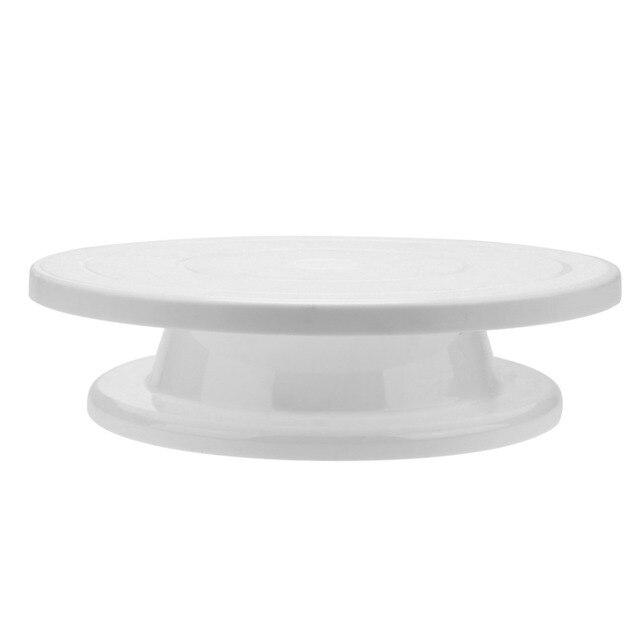 28cm Plastic Cake Turntable Rotating Anti-skid Cake 4