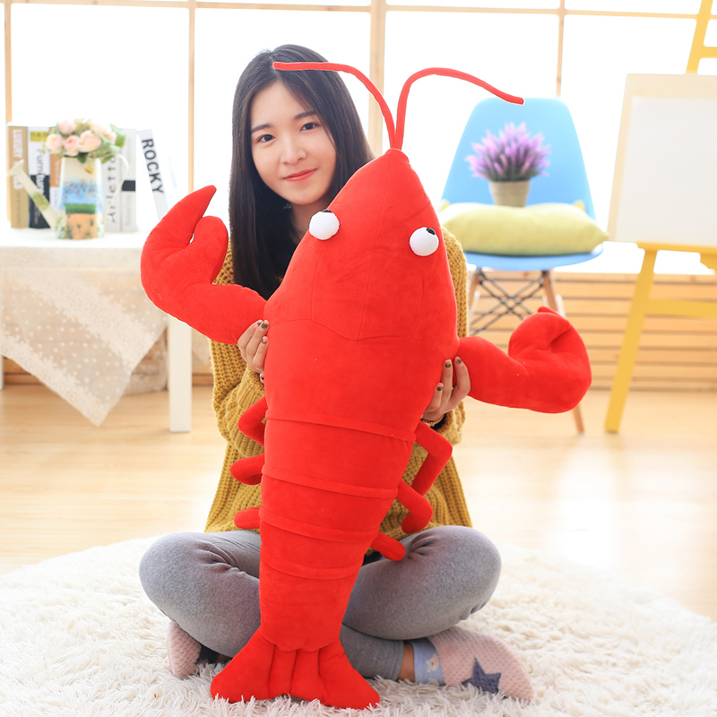 Girlfriend Birthday Gift Crayfish Plush Soft Toy Lobster Doll Funny Weird Plushies Cute Stuffed Animal Boyfriend Present 1pcs