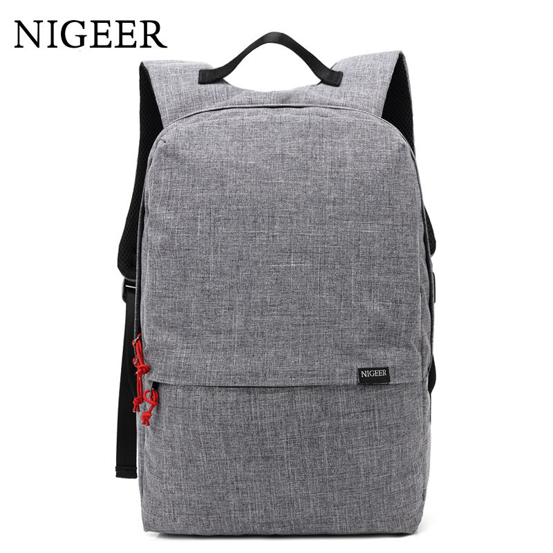 NIGEER Man & Women School Bags Backpack Fashion Laptop Backpacks with USB Charging Design Teenage Casual Travel Backpack n7105