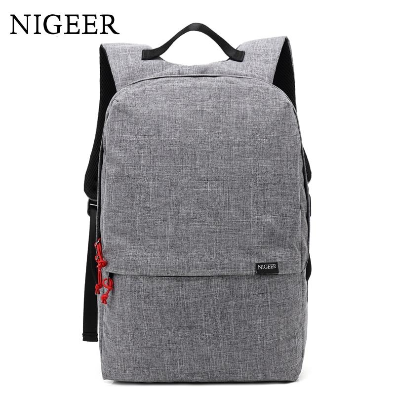 NIGEER Man & Women School Bags Backpack Fashion Laptop Backpacks with USB Charging Design Teenage Casual Travel Backpack n7105